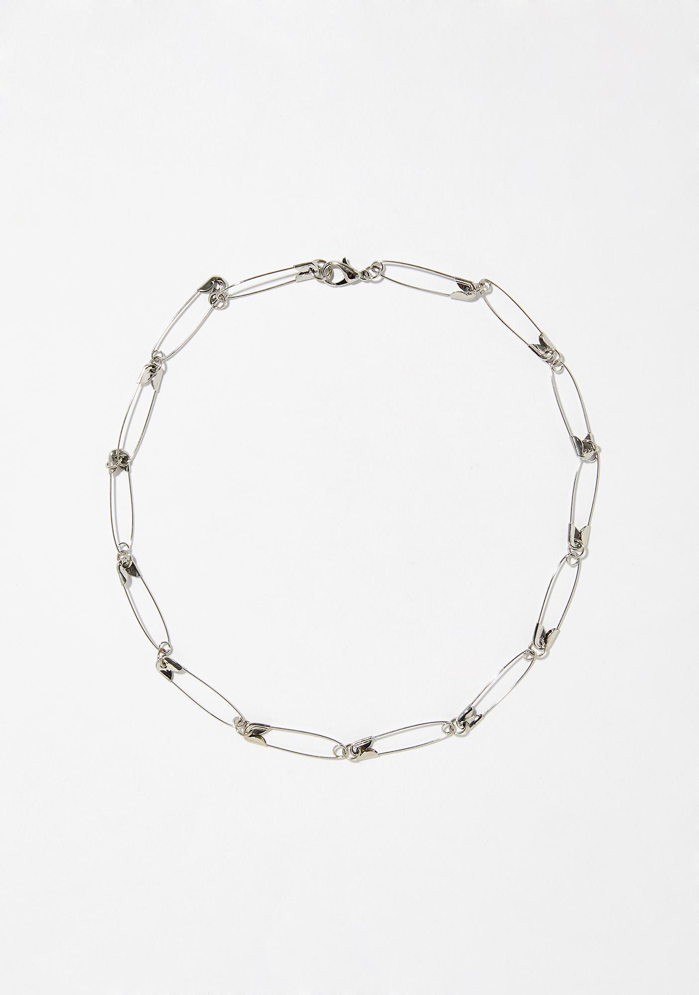 Renegade Babe Safety Pin Necklace