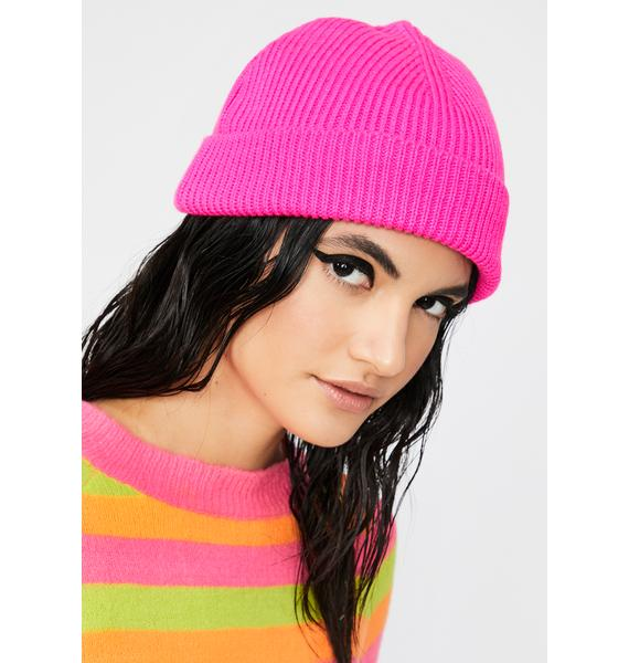 Sweet Color Shock Ribbed Beanie