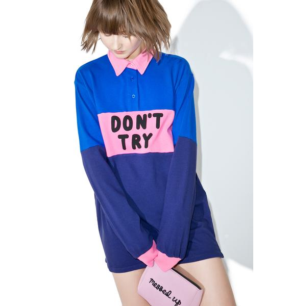 Lazy Oaf Don't Try Rugby Jersey