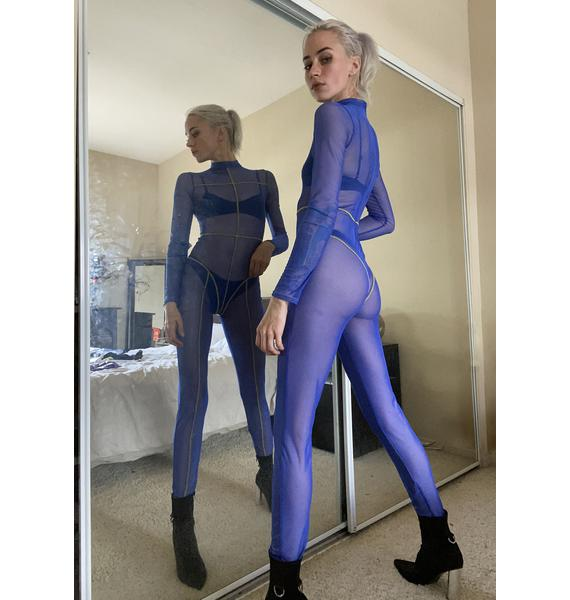 Without A Trace Sheer Catsuit
