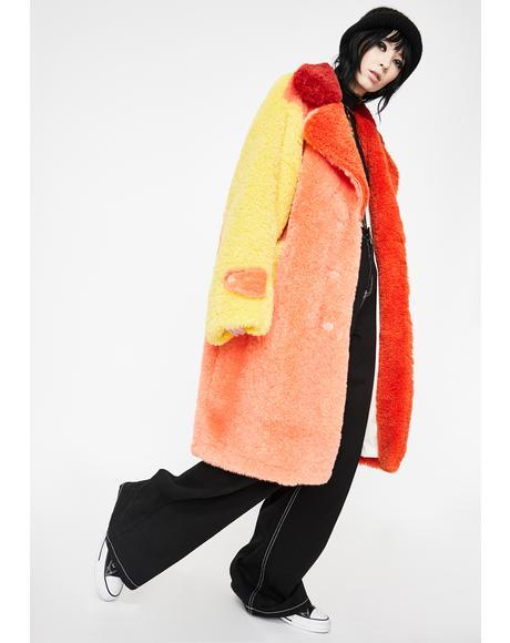 Fire Fluff Longline Coat