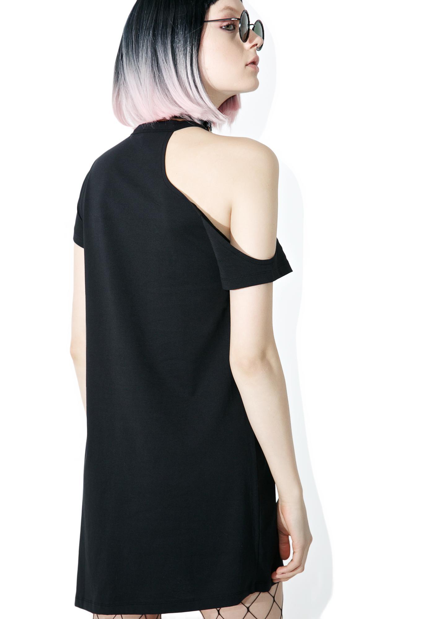 Disturbia Psychic Angst Cut-Out Tee Dress