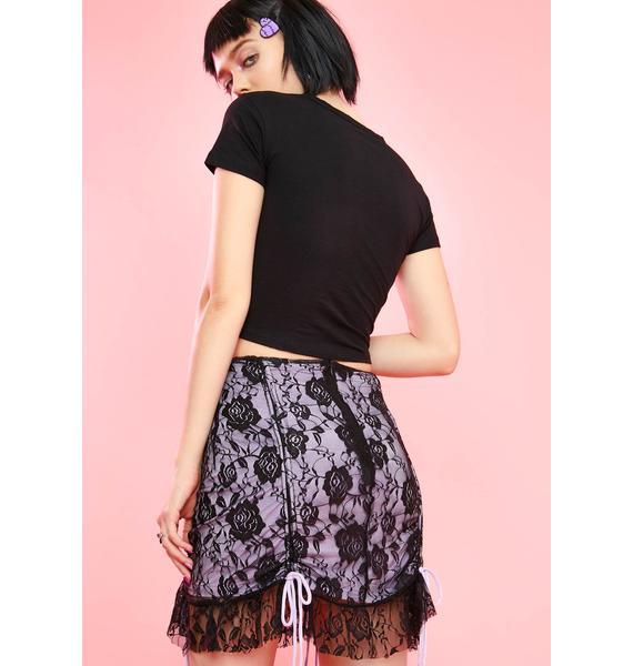 Sugar Thrillz Monstrous Romance Lace Skirt
