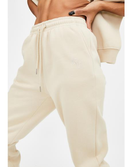 Explicit Rhinestone Sweatpants
