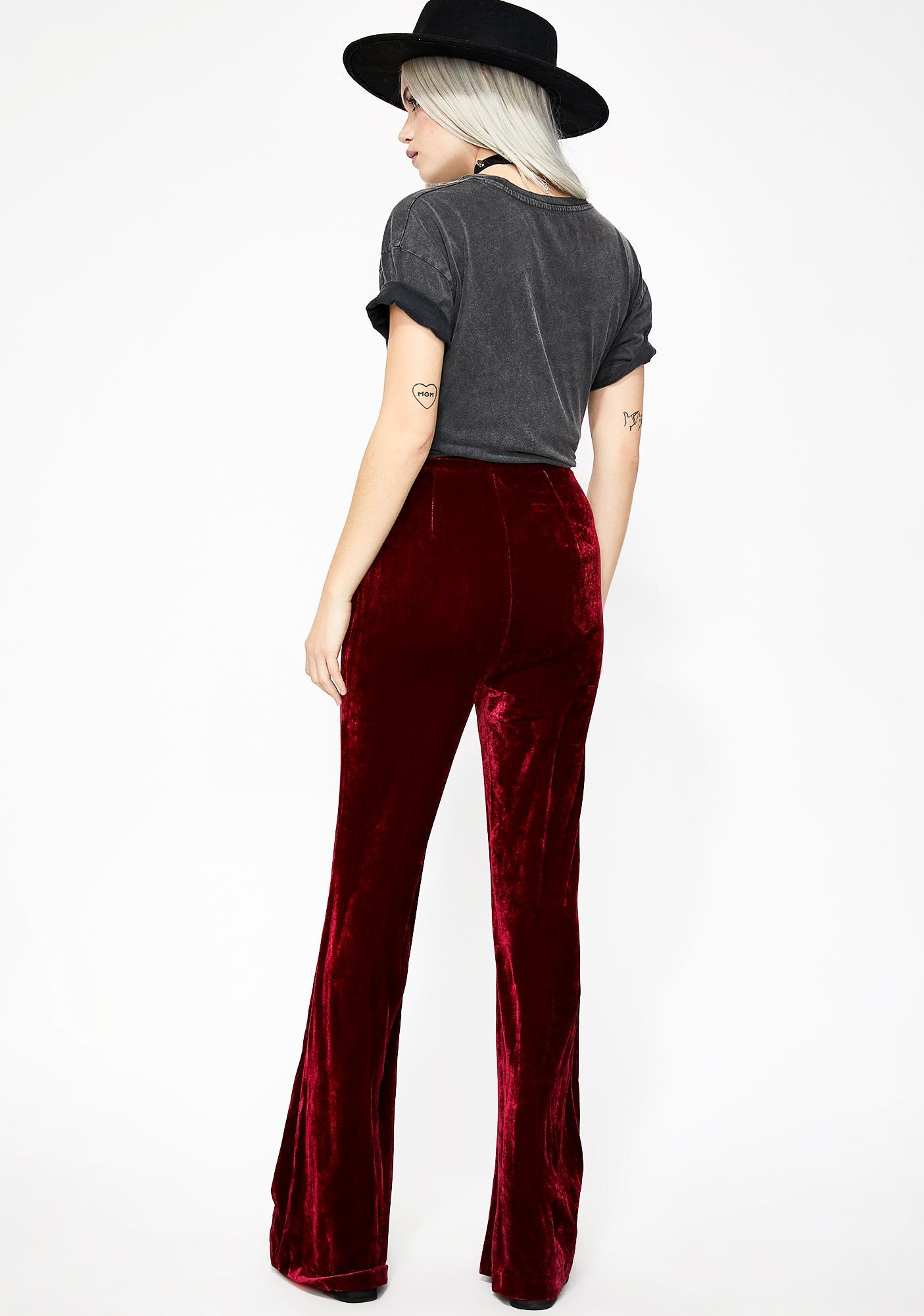 Bloody Divine Woman Velvet Pants