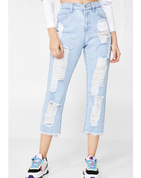 Yung N' Wild Cropped Jeans