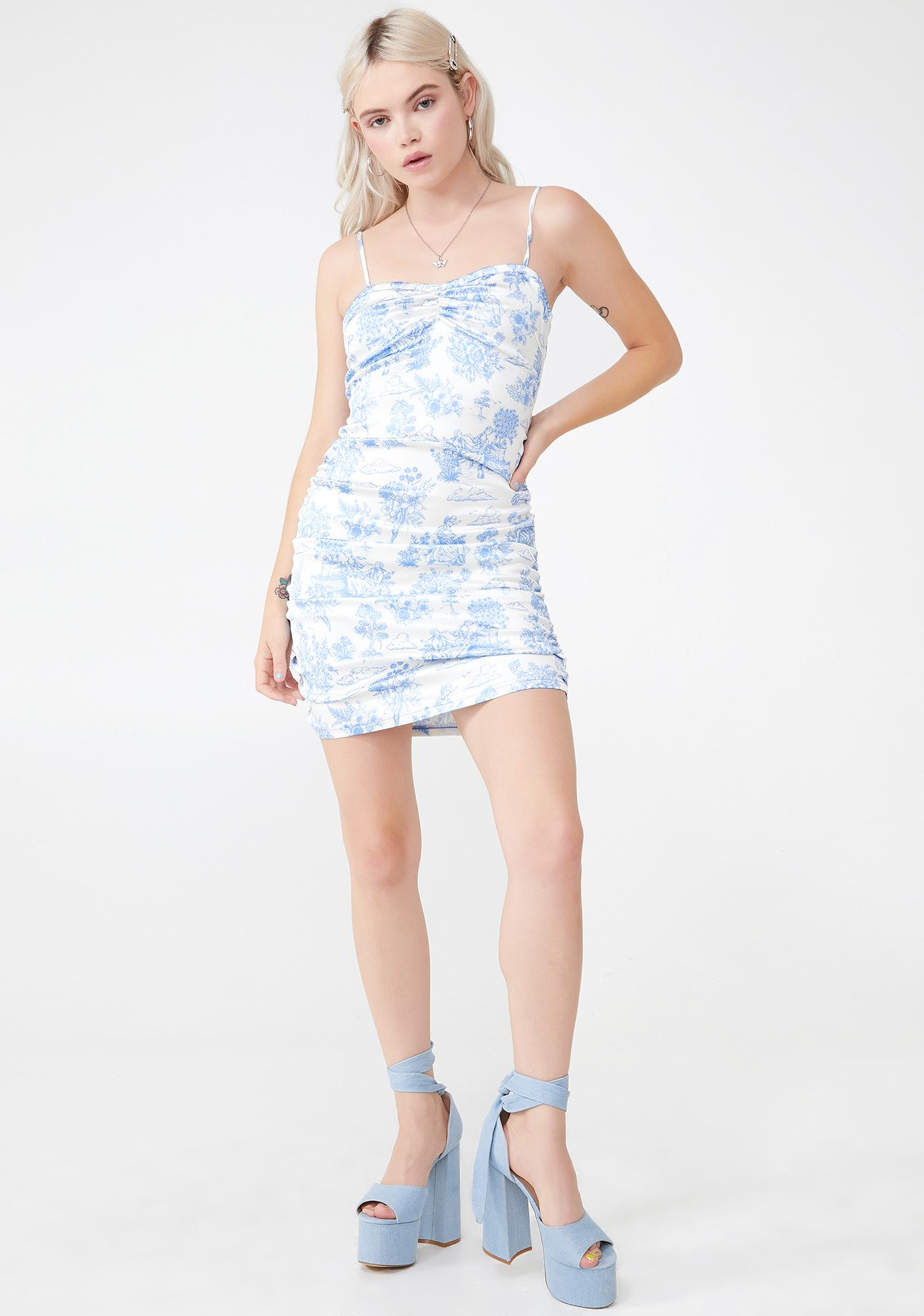 Sugar Thrillz Provincial Life Ruched Dress