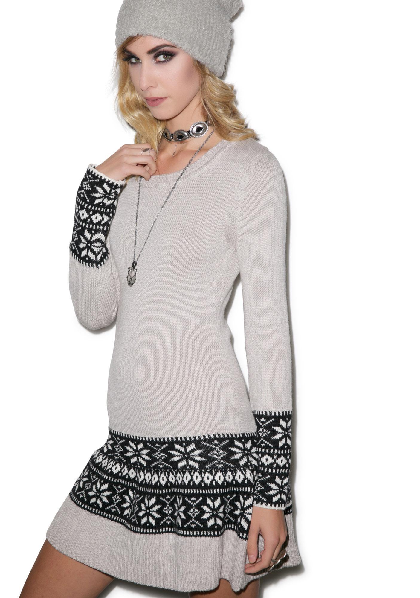 For Love & Lemons Snowflake Mini Dress