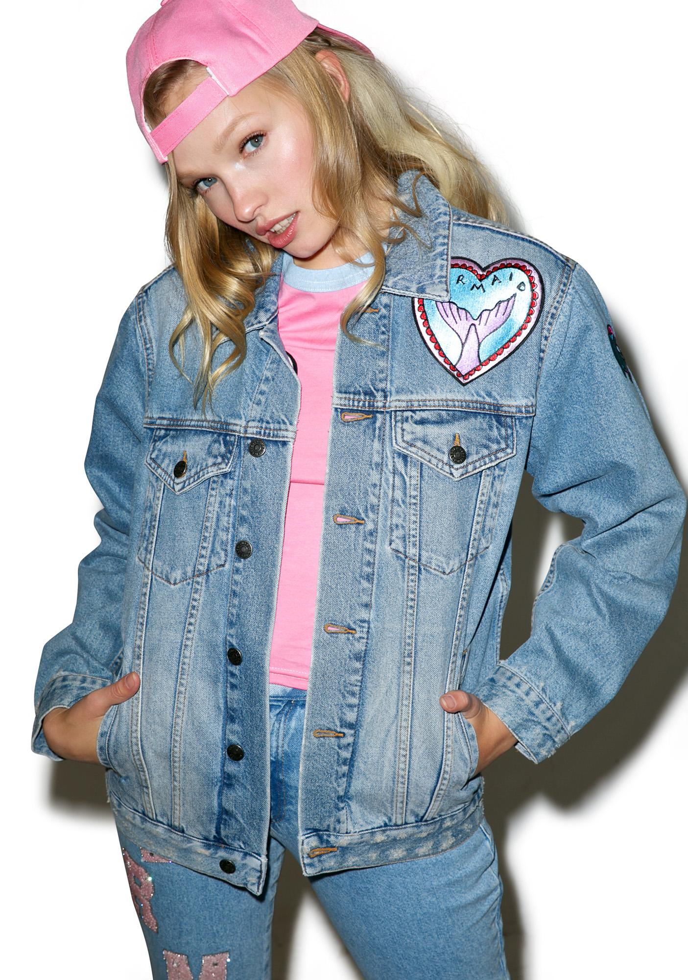 The Ragged Priest Splash Denim Jacket