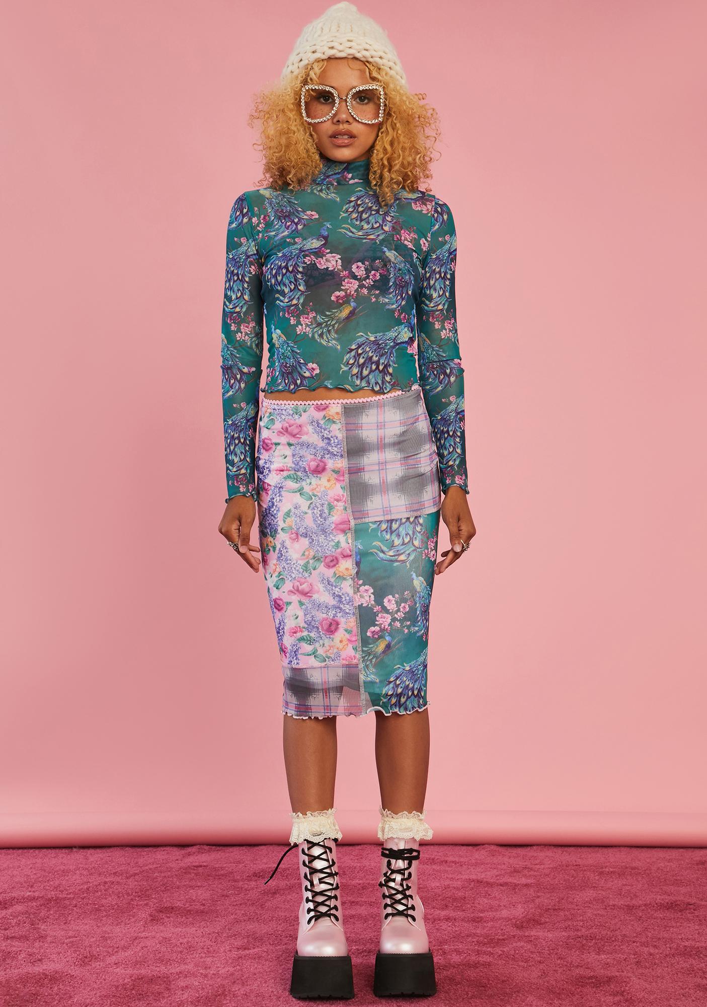 Sugar Thrillz Sews It Begins Patchwork Skirt