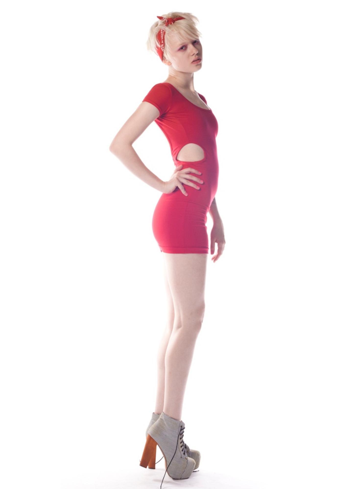 Peephole Cut Out Dress