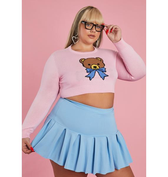 Sugar Thrillz My Huggable Honey Cropped Sweater