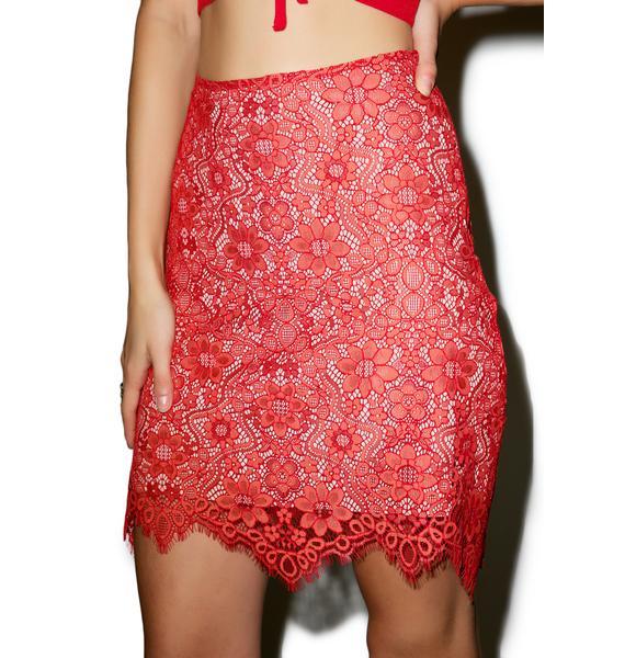 For Love & Lemons Rosemary Mini Skirt