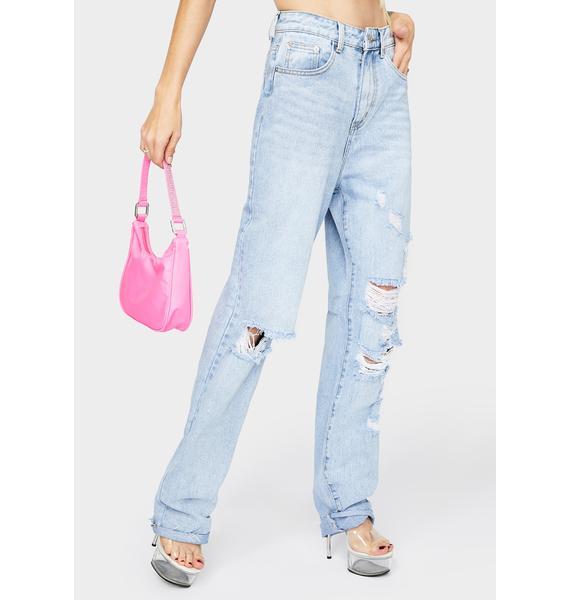 Momokrom Light Wash Baggy Jeans