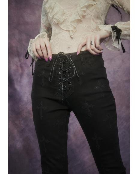 Daughter Of The Queen Embroidered Jeans