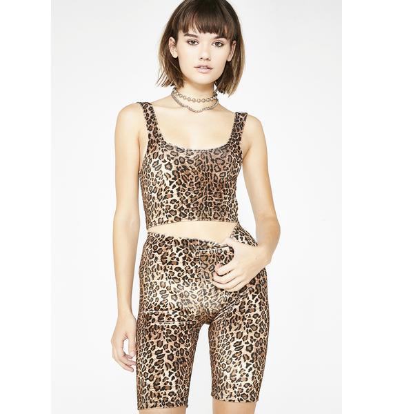 Current Mood Wild Prey Leopard Shorts
