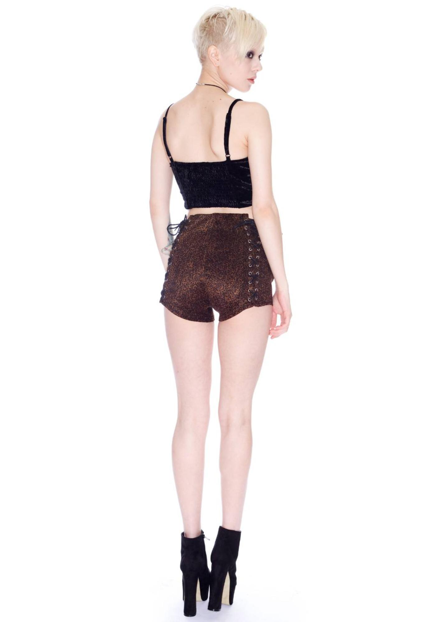 UNIF Lace Up Shorts