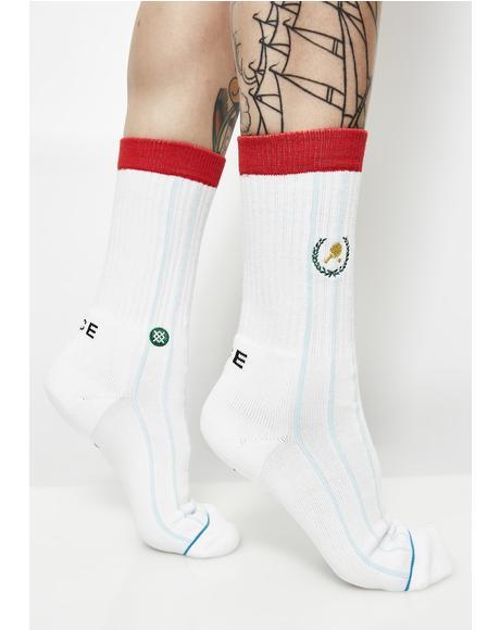 Topspin Crew Socks