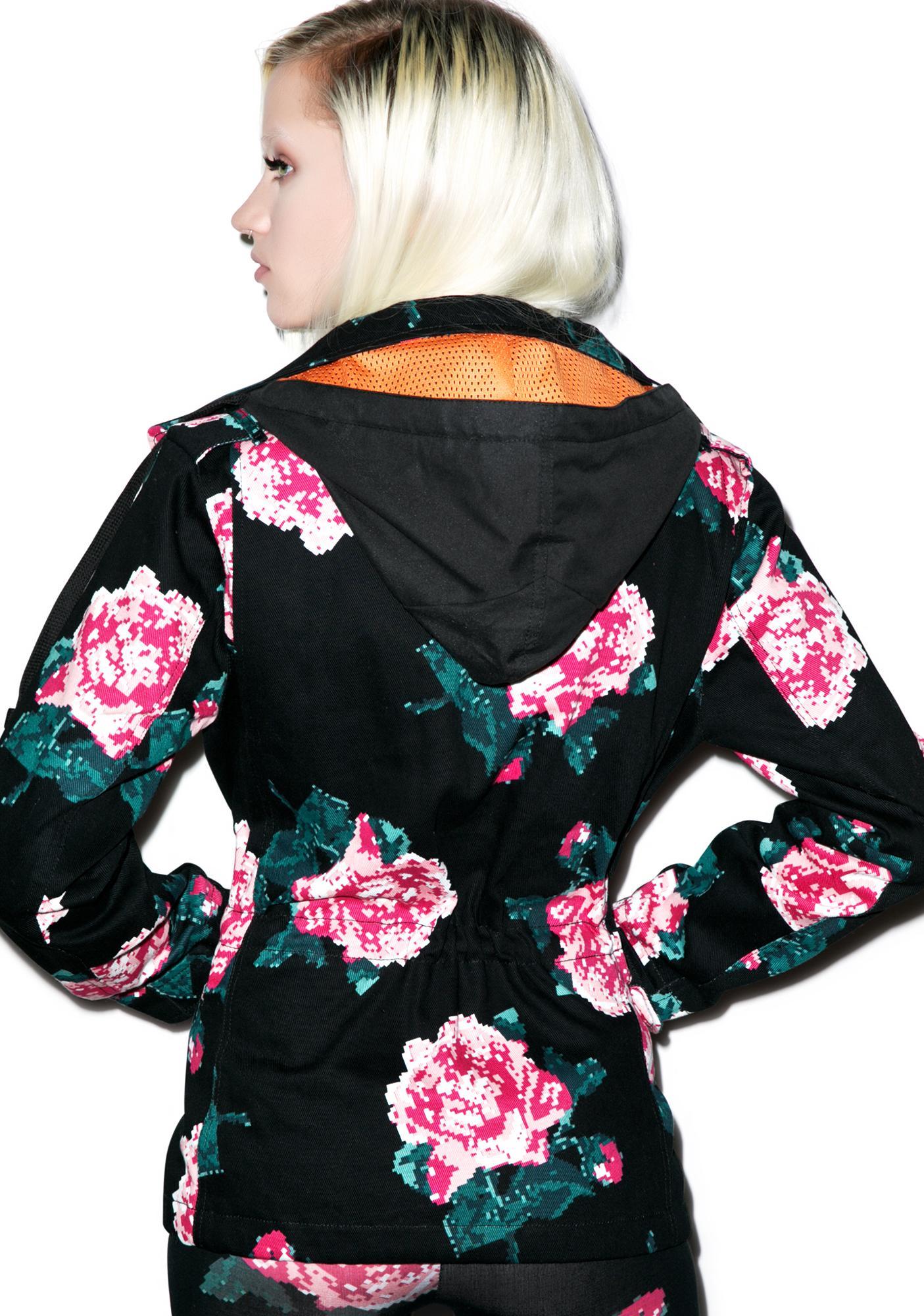 Joyrich 8Bit Floral Military Jacket
