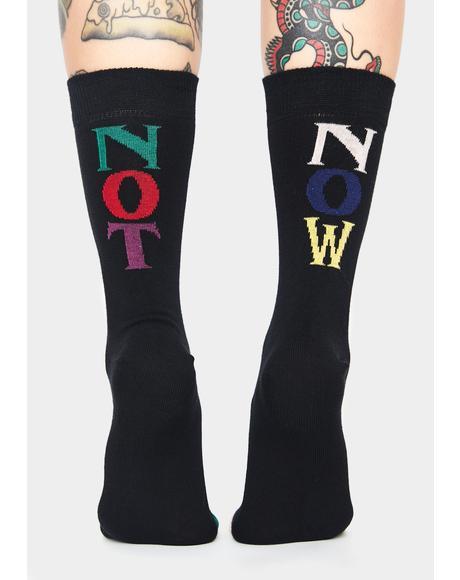 Vacant Crew Socks