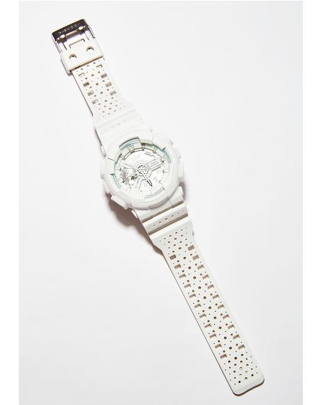 Perforated White Watch