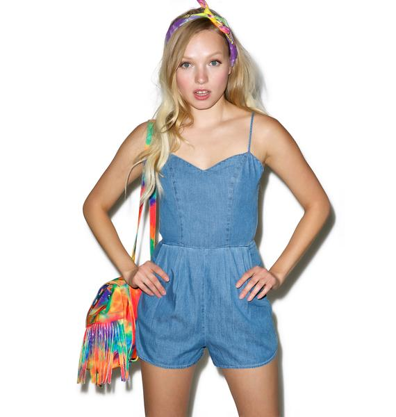 Rachel Denim Romper