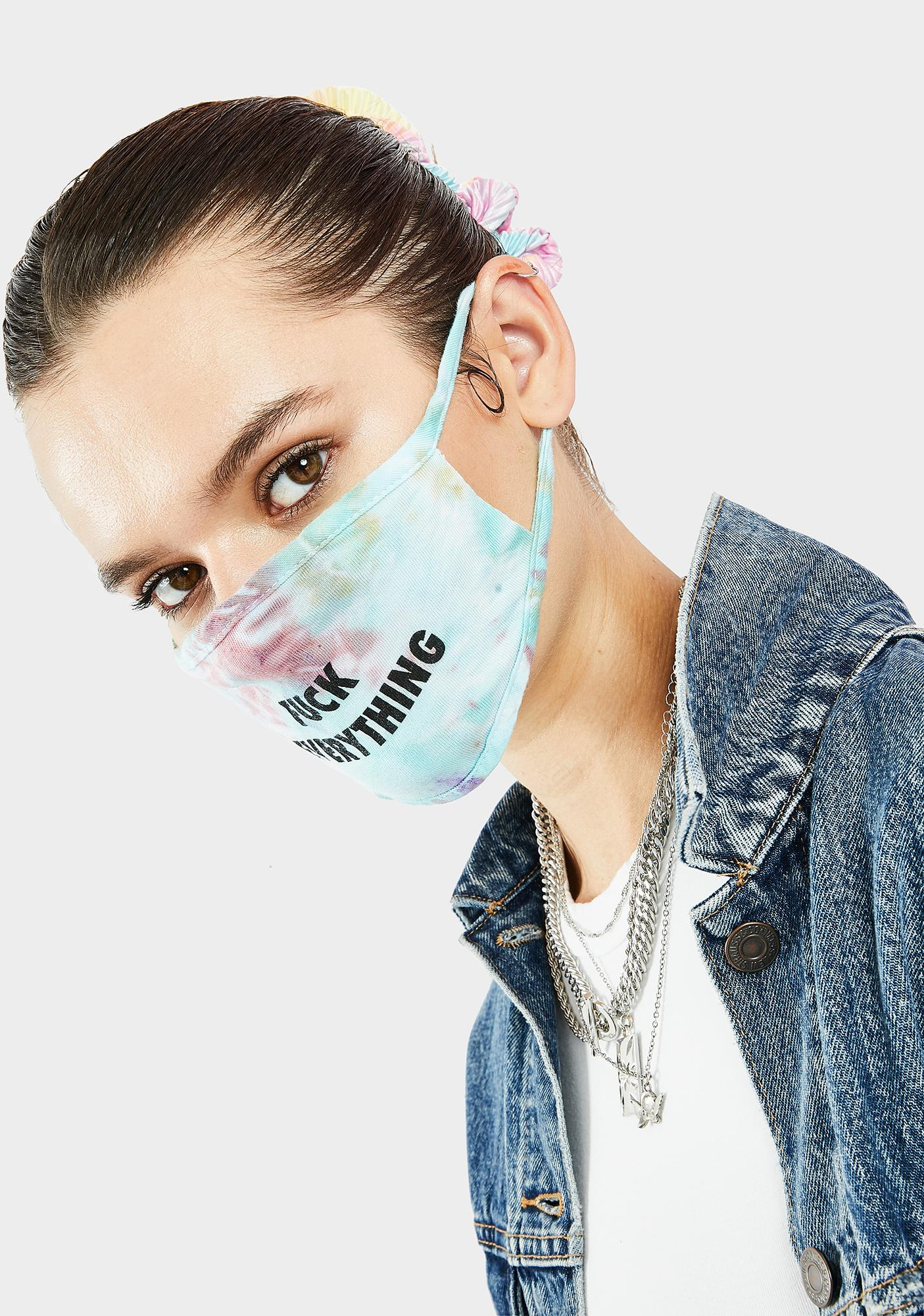 Kill Brand Fuck Everything Blue Tie Dye Face Mask