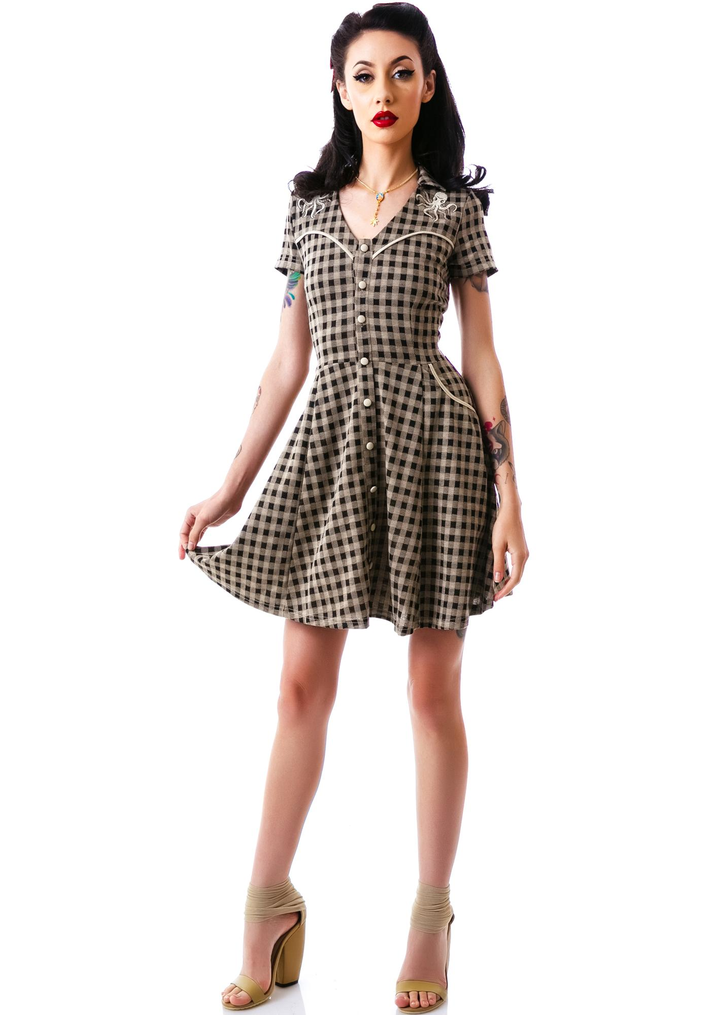 85a5143485e Sourpuss Clothing Western Octopus Dress