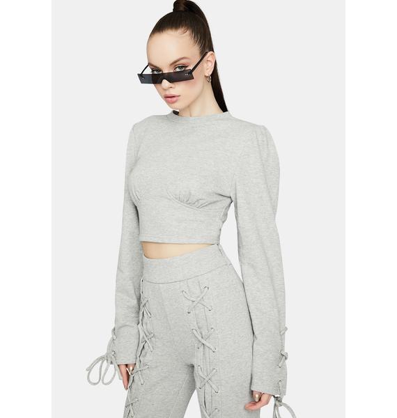 Comfy Chic Underbust Crop Sweatshirt