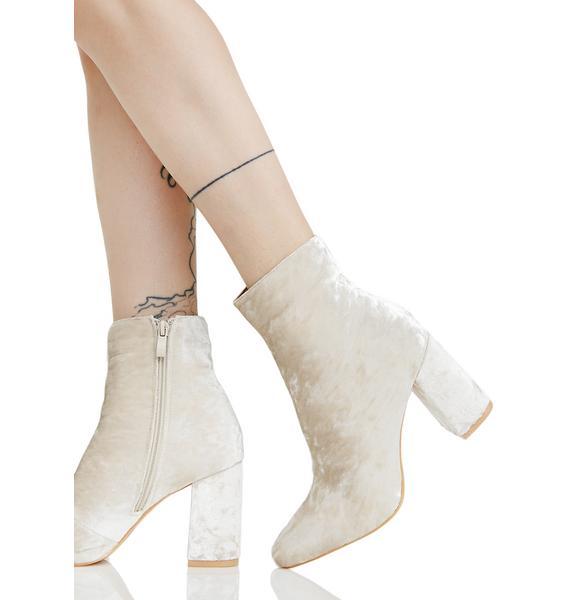 Public Desire Cleo Velvet Ankle Boots