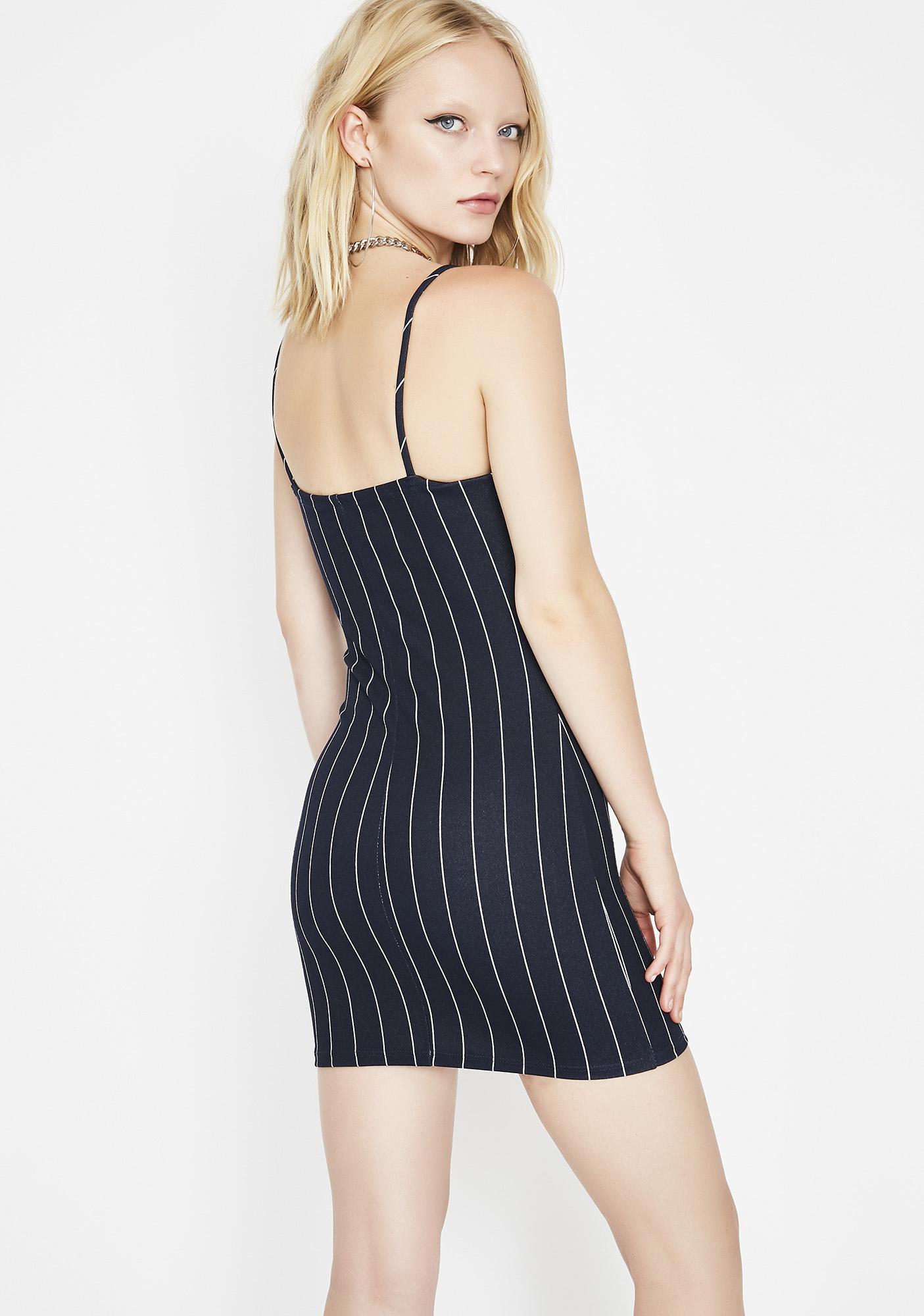 Palm Of Ya Hand Pinstripe Dress