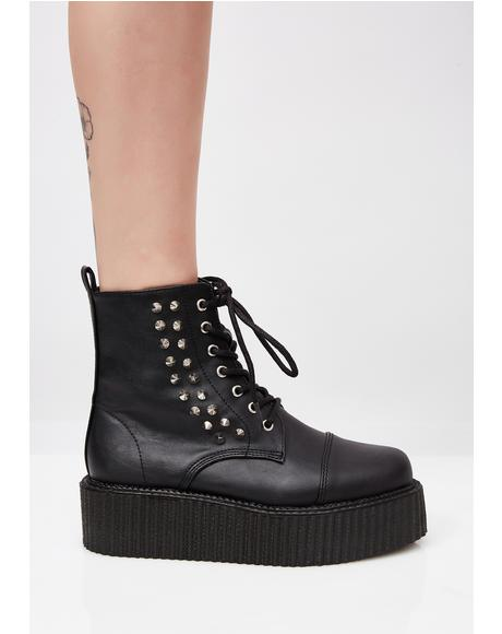 Vegan Leather V-Creeper