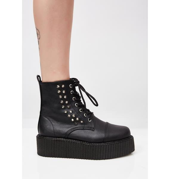 Demonia Vegan Leather V-Creeper