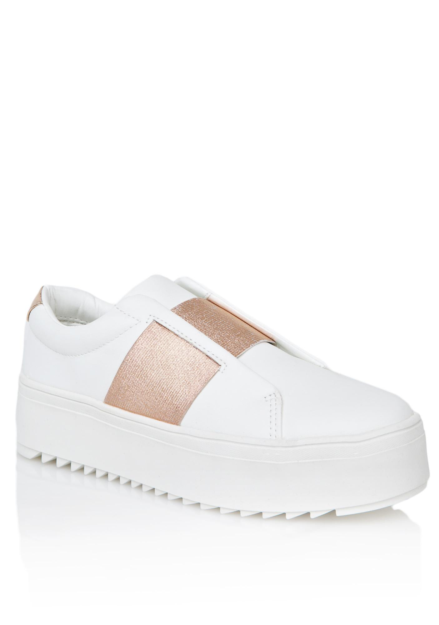 Lust For Life Battle Metallic Sneakers