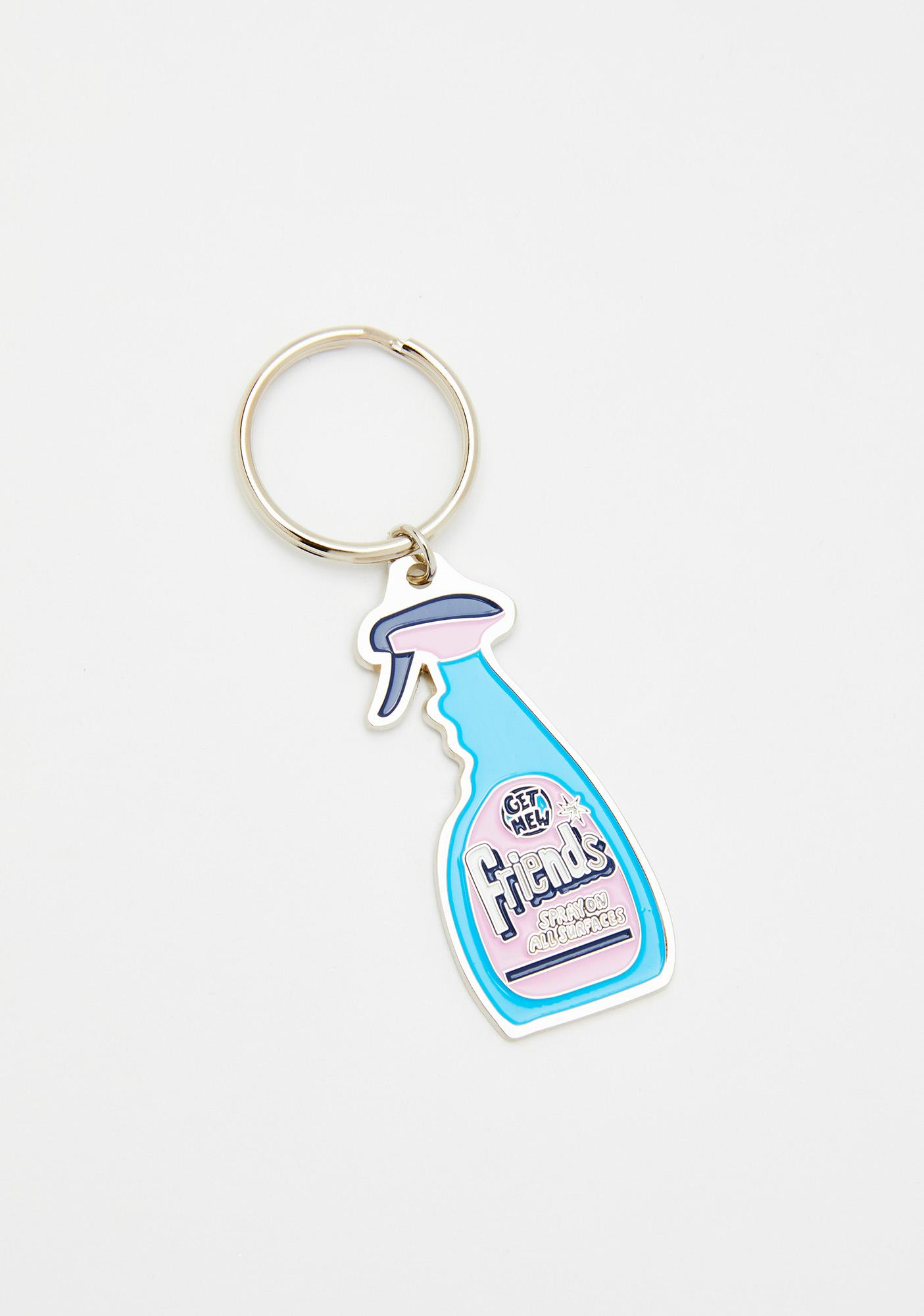 Lazy Oaf Friends Spray Keyring