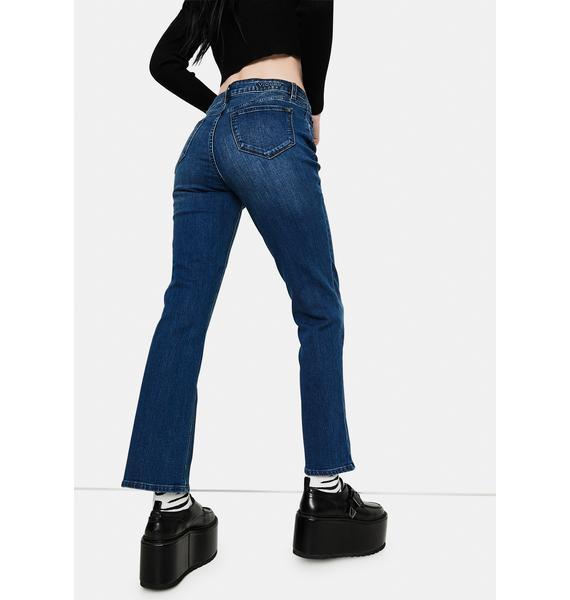 VIGOSS Marley Midrise Crop Boot Cut Jeans