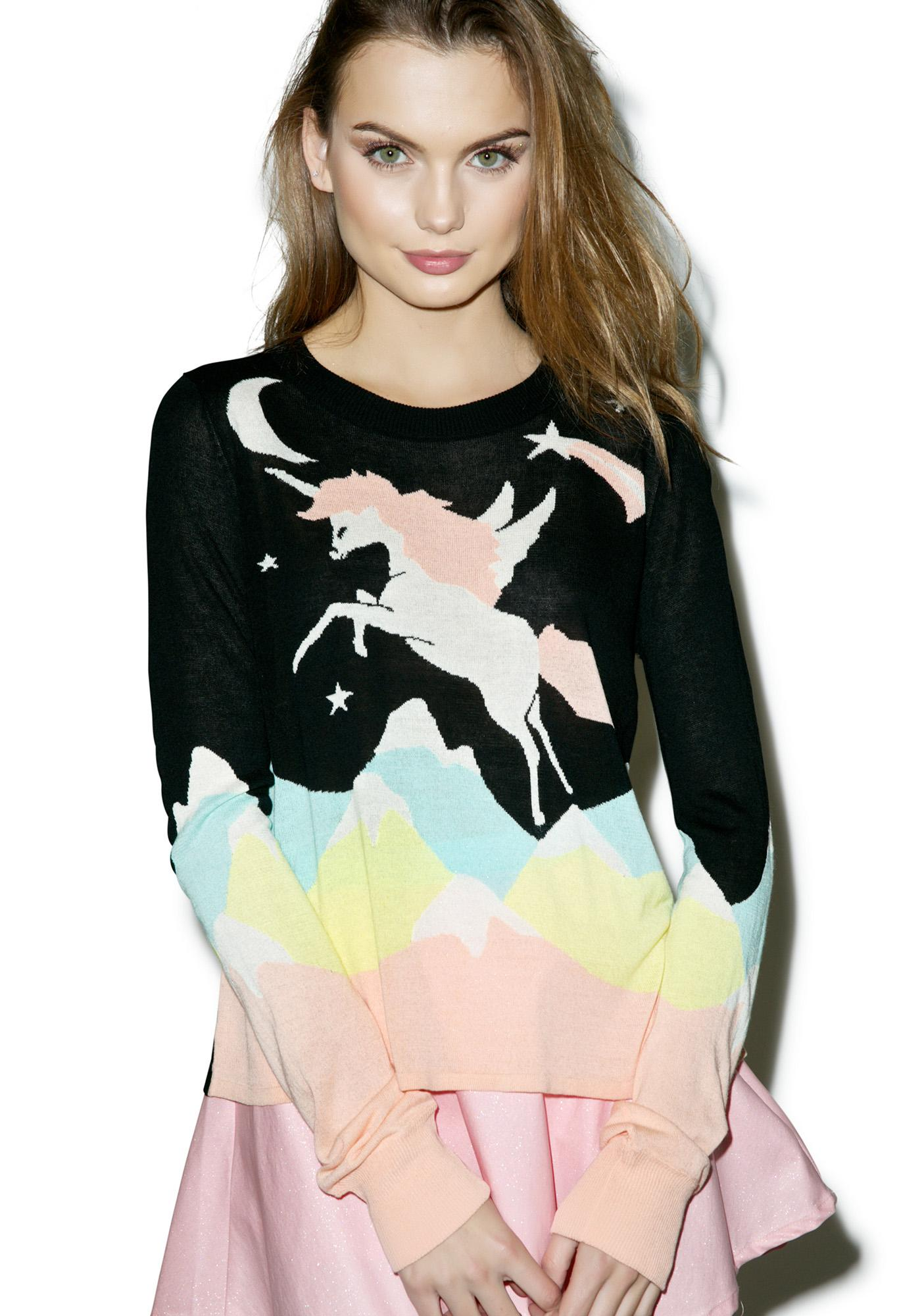 Wildfox Couture Land Faraway Opal Sweater