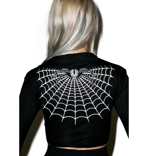 Kreepsville 666 Spider Webbed Tie Top