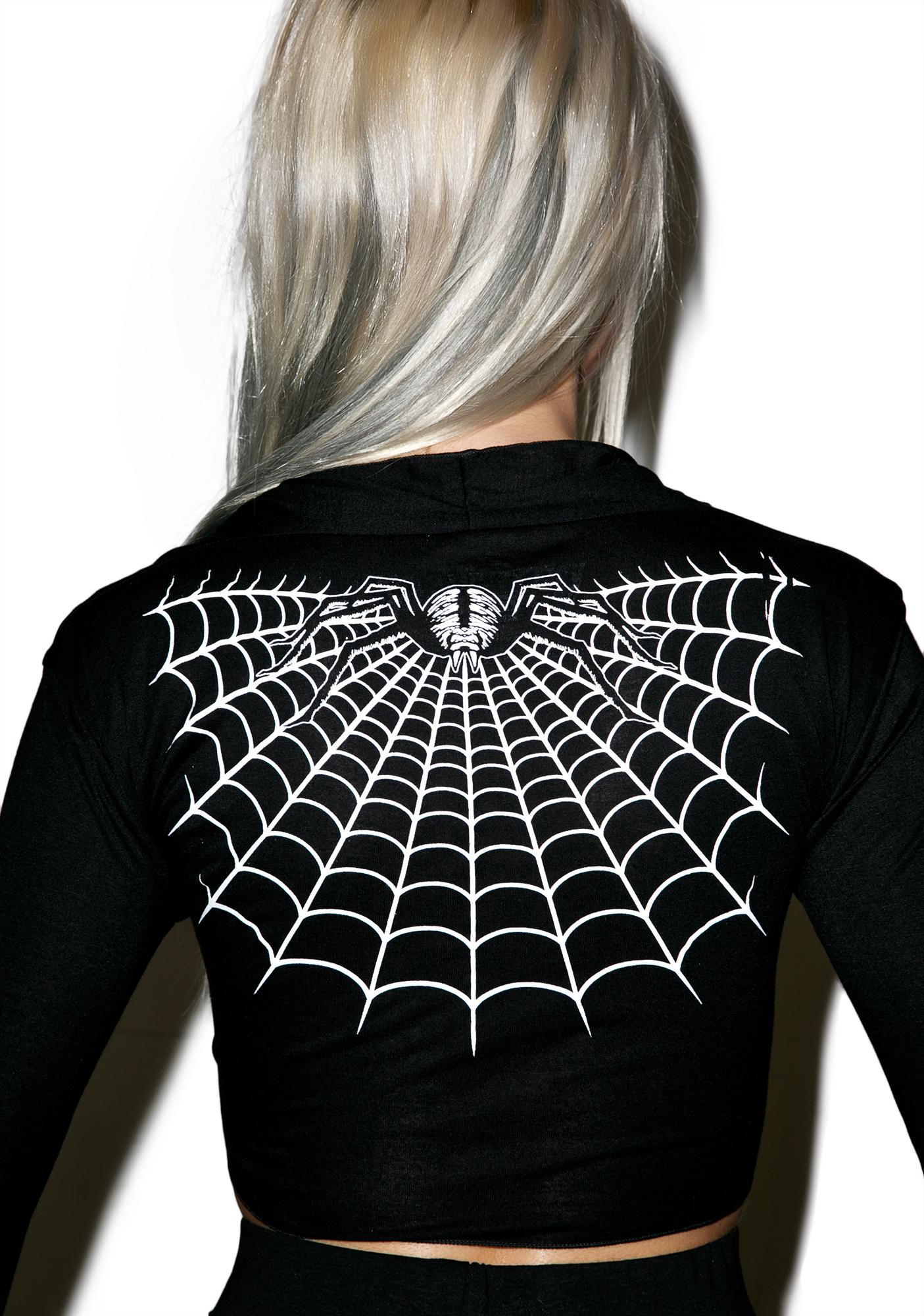 Kreepsville 666 Spider Webbed Tie Top