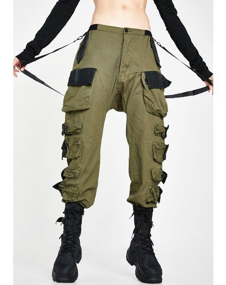 Kush Commander Smoke Unisexx Cargo Pants