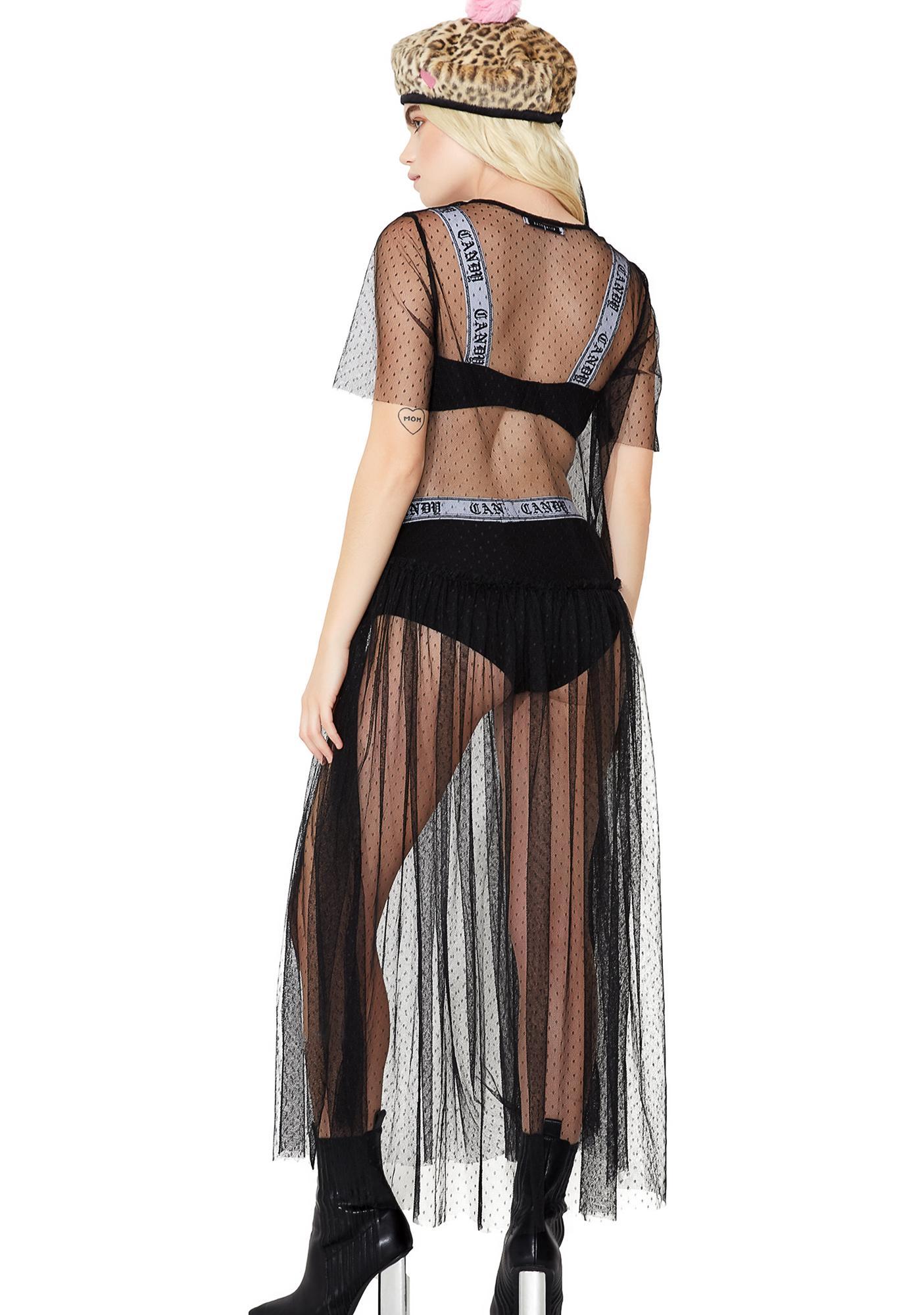 Glamorous Totally Dottie Sheer Maxi Dress