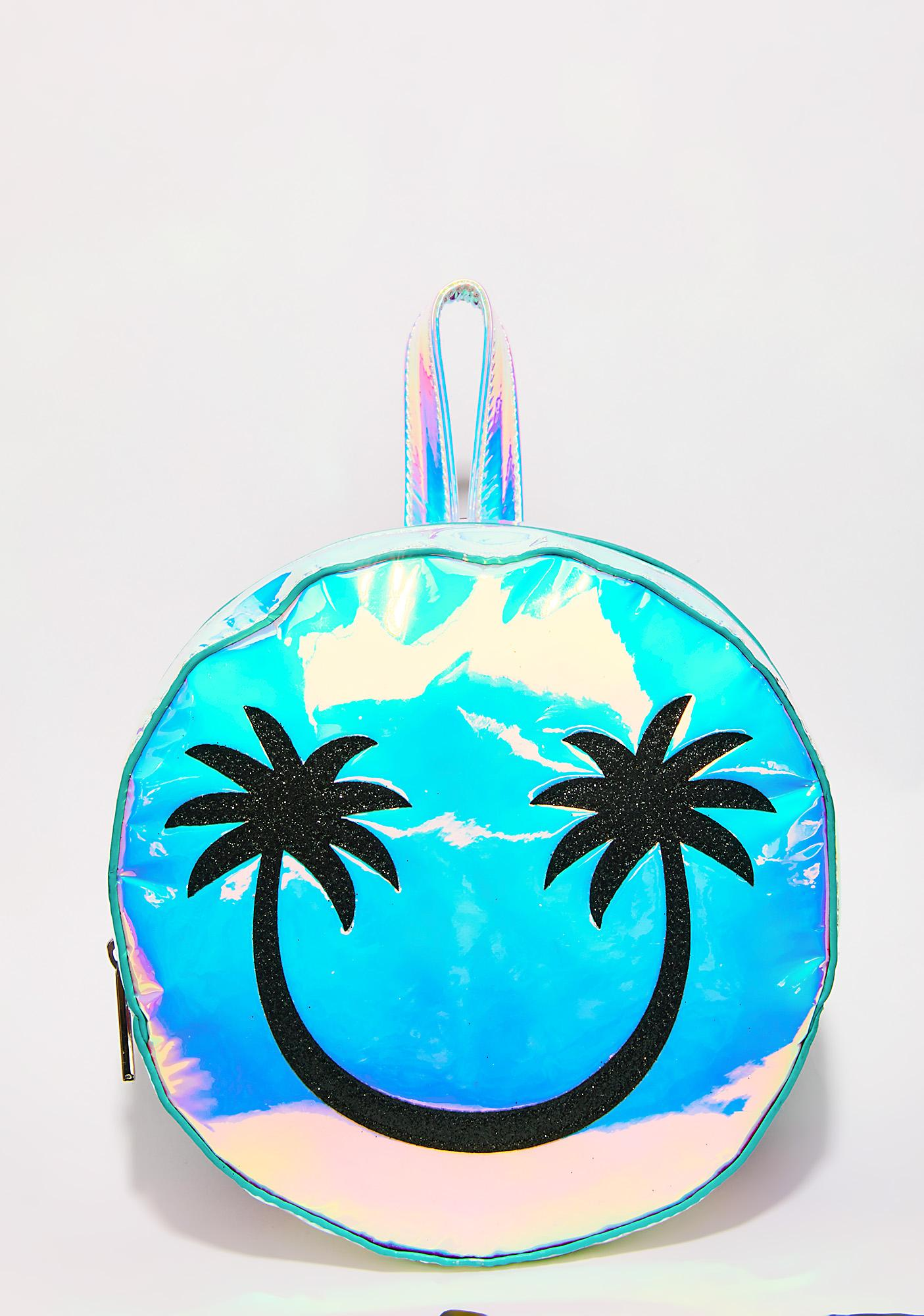 Skinnydip Palm Smiley Backpack