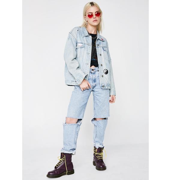 Vintage 90s Patched Denim Jacket