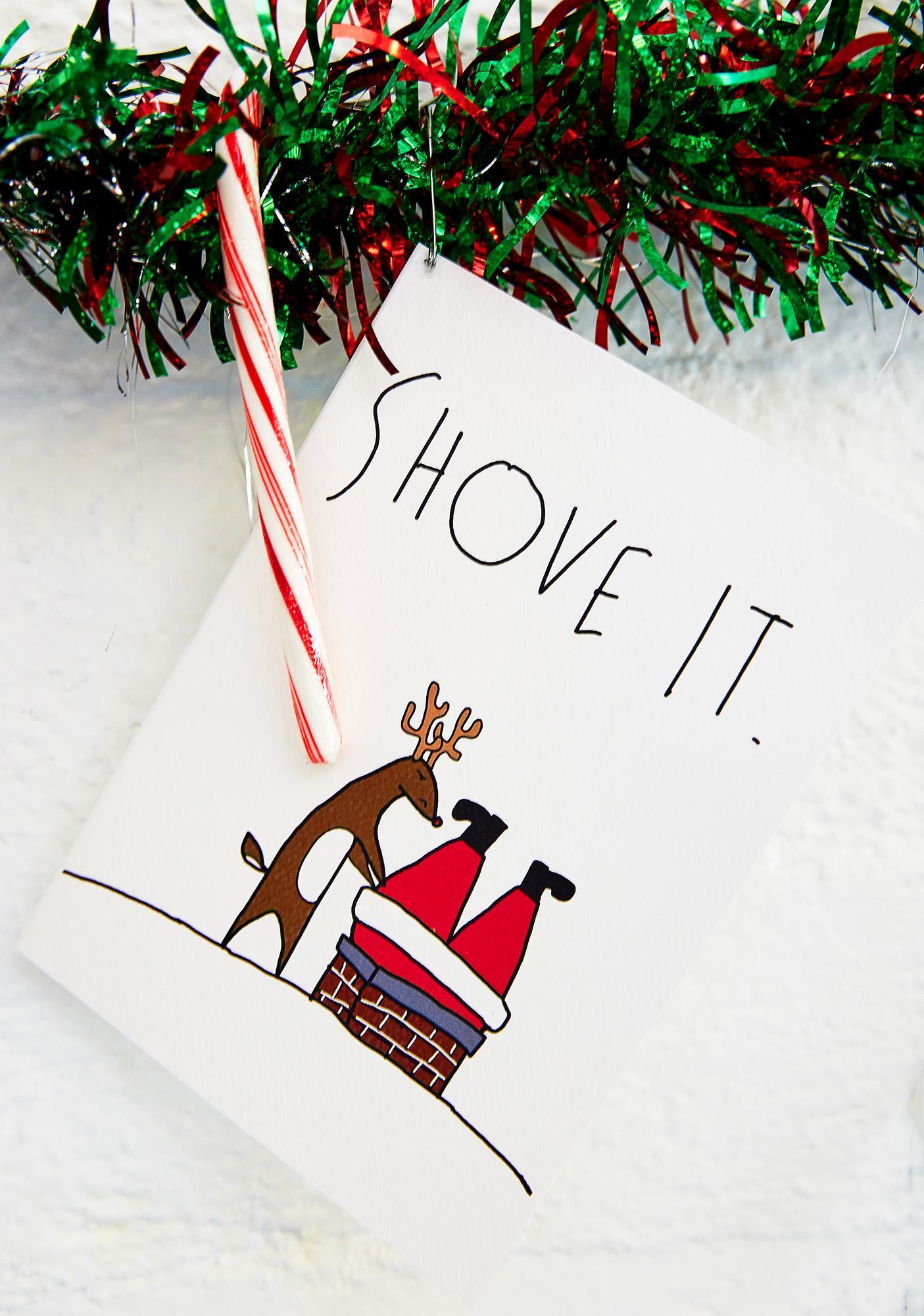 Shove It Christmas Card