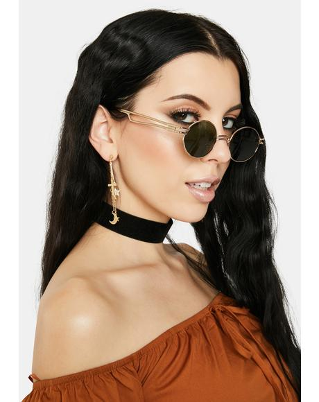 So Robotic Circle Sunglasses