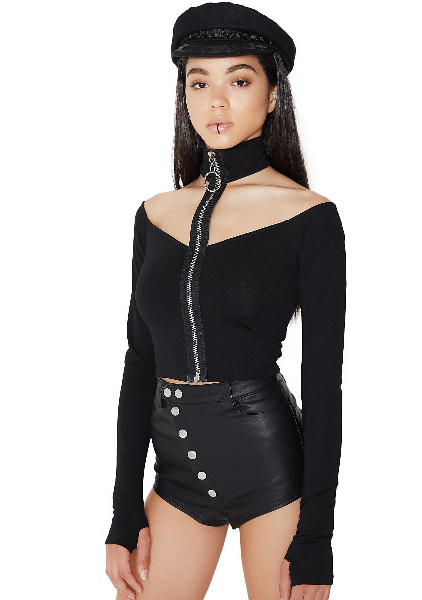 Poster Grl Powerhouse Choker Crop Top