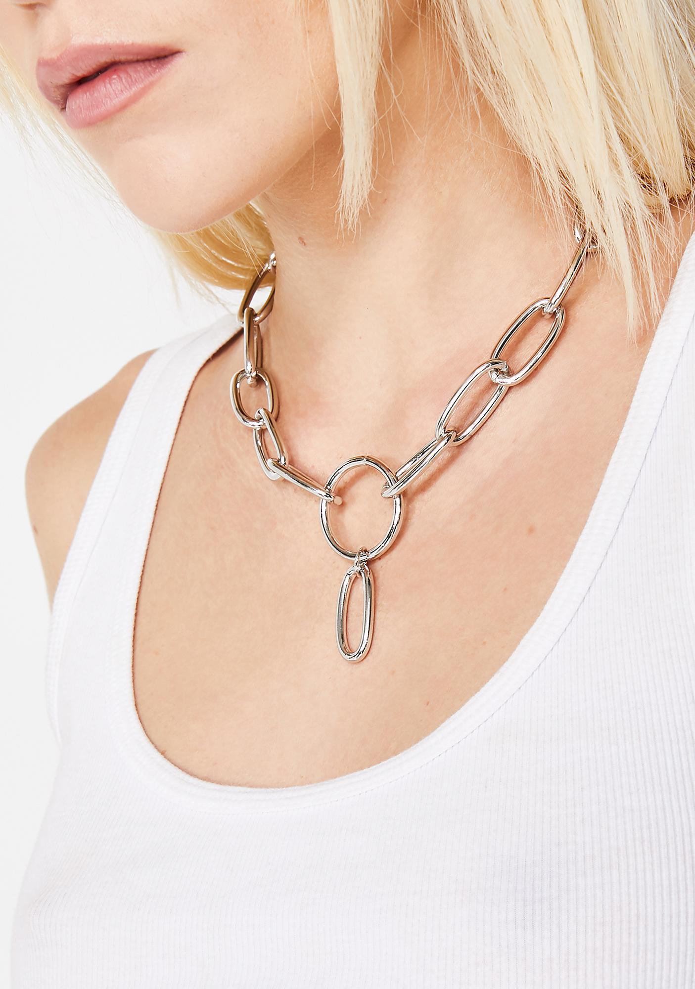 Iron Heart Chain Choker
