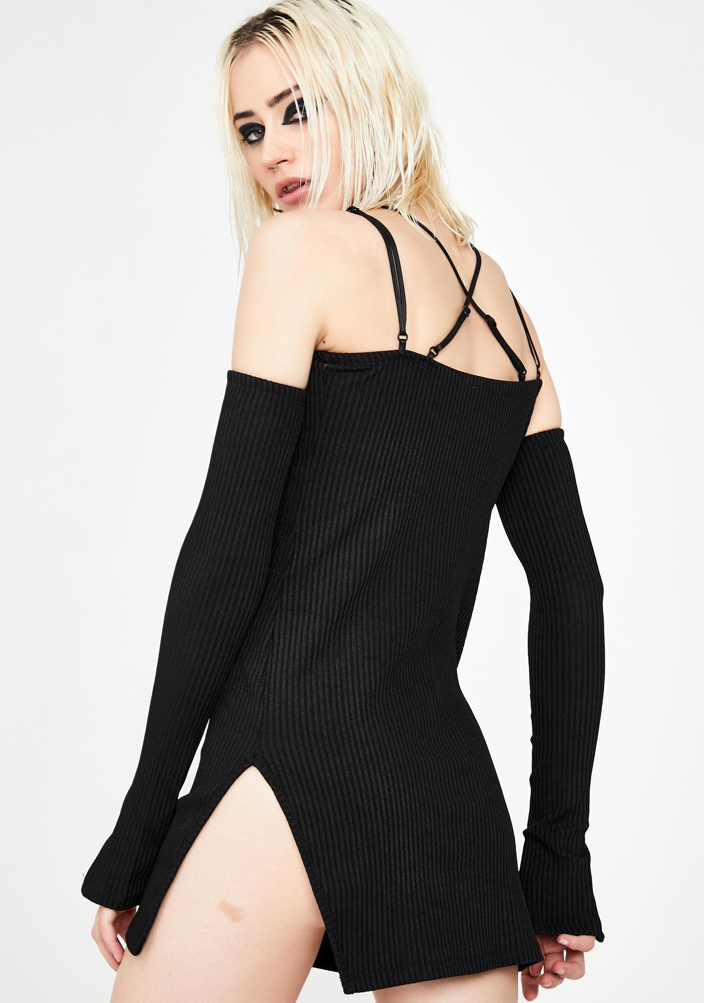 Kiki Riki Cold Shoulda Mini Dress