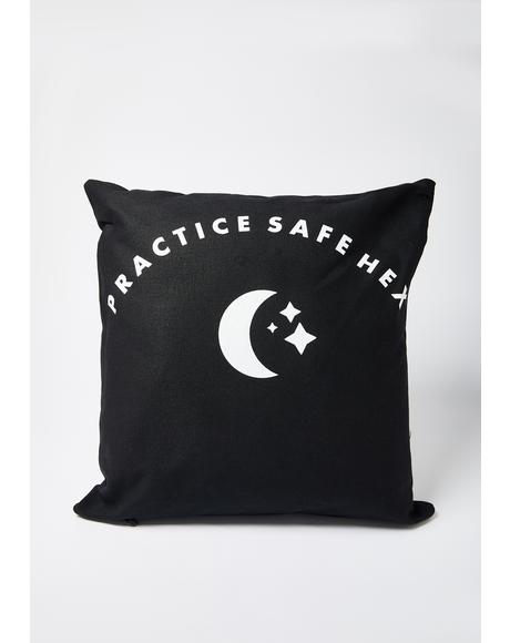 Practice Safe Hex Pillow