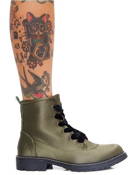 Hide N' Sleek Satin Boots